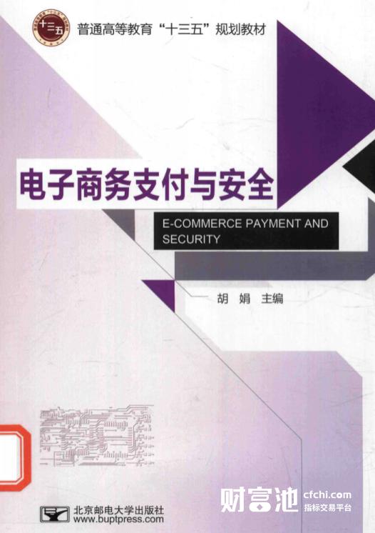 电子商务支付与安全 胡娟 高清 PDF